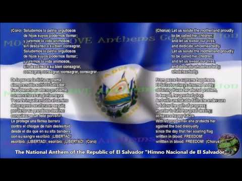 El Salvador National Anthem with music, vocal and lyrics Spanish w/English Translation