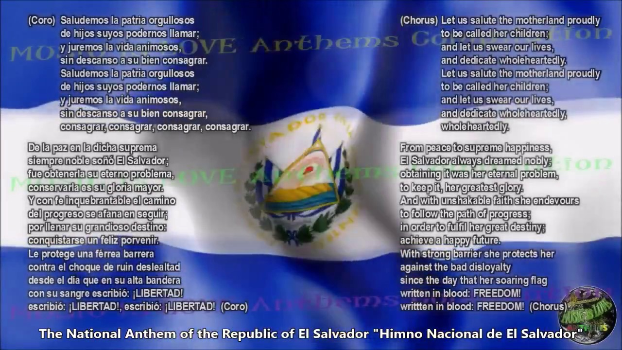 El salvador national anthem with music vocal and lyrics spanish w el salvador national anthem with music vocal and lyrics spanish wenglish translation freerunsca Image collections