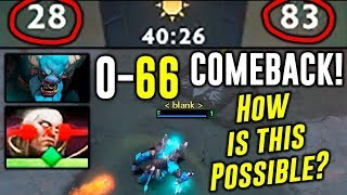 HOW IS THIS POSSIBLE??? 0 - 66 COMEBACK Dota 2