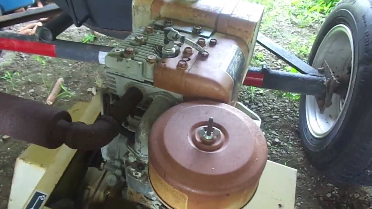 Antique Sears Lawn Tractor And Tiller