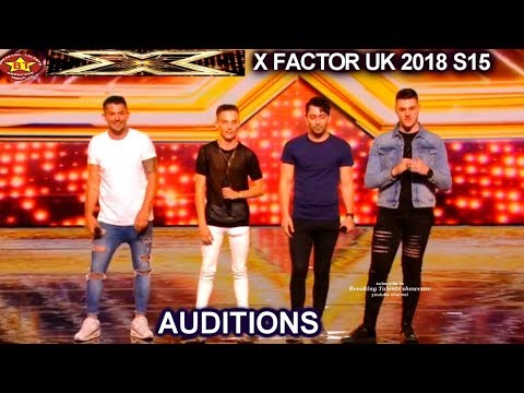 No Labels sings Original Song- Judges say No  to their AUDITIONS week 1 X Factor UK 2018