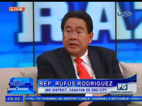 Rep. Rufus Rodriguez, Chairman - Ad Hoc Committee on the Bangsamoro Basic Law
