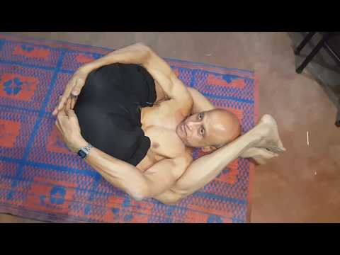 Yoga by Super Strong old man 64 Year Old in  Bangla
