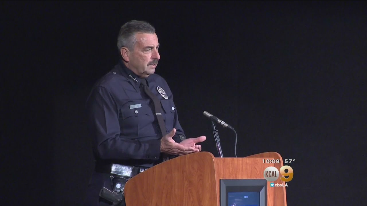 Download LAPD Chief Beck Talks To San Pedro Residents Who Are Fed Up With Spike In Crime