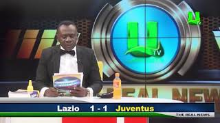 Ghanaian news reporter reads Serie A and Bundesliga results | Funny