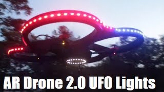 AR Drone 2.0 Light Kit Mod Night Flight - Episode 22 HD