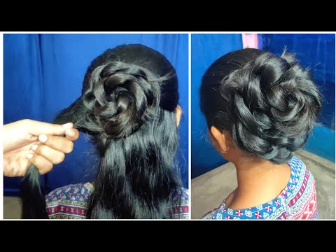 new-juda-hairstyle-for-wedding/party-||-आसानी-से-जूड़ा-बनाना-सीखें