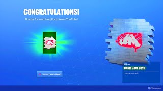 HOW TO CLAIM FREE FORTNITE YOUTUBE GAME JAM SPRAY! NEW FORTNITE GAME JAM YOUTUBE FORTNITE SPRAY FREE