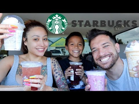 TRYING OUR SUBSCRIBERS FAVORITE STARBUCKS DRINK **new favorite**