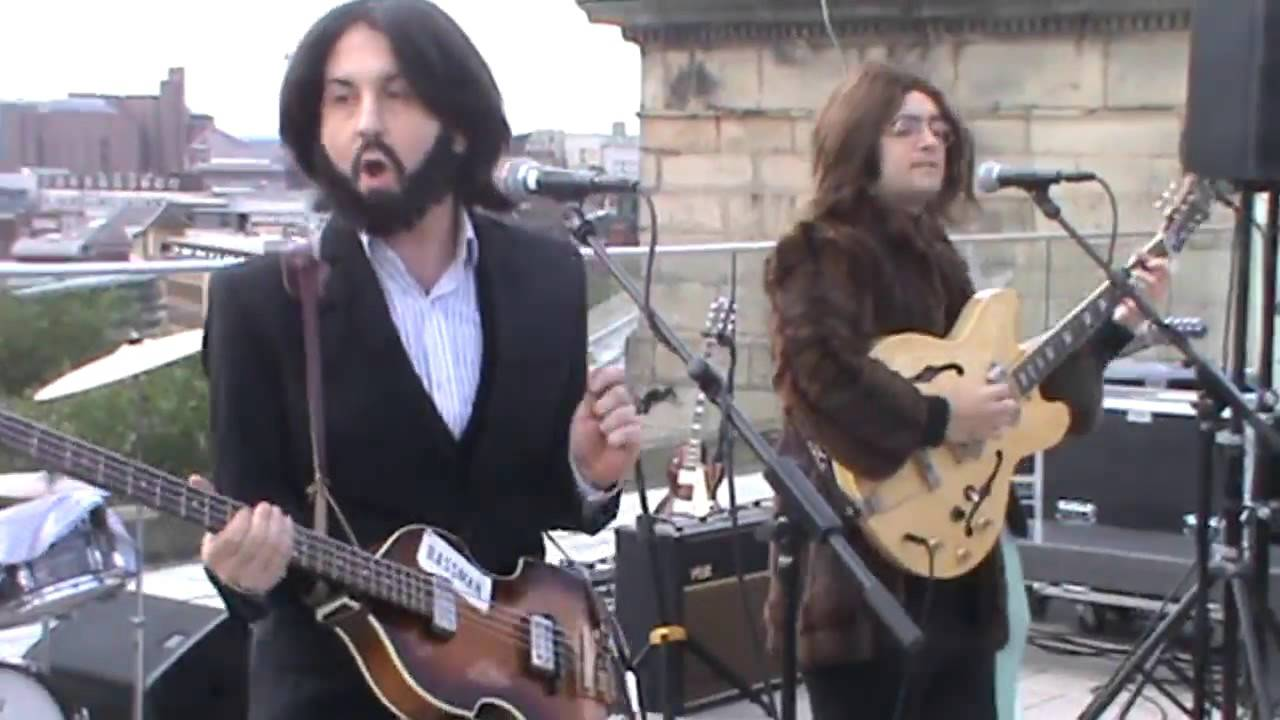 Them Beatles Rooftop Performance Liverpool Central Library