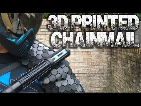 I TRY TO STUN MYSELF?! 3D Printed Chainmail vs Stun Baton & Superhero Armory!  - GreekGadgetGuru