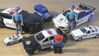 Toy Police Cars for kids / RESCUE VEHICLES Lights and Sounds!