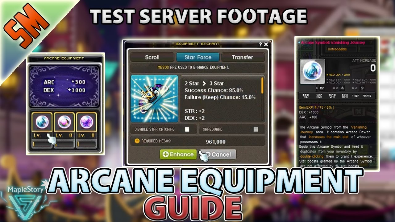 Maplestory Arcane Symbol Guide Umbra Arcane Equips Youtube