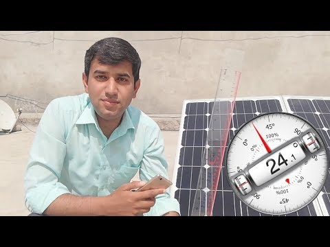 Effect Of Angle Change on Solar Panels Current and Efficienc