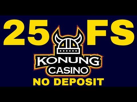25 Free Spins No Deposit Bonus💲💲💲Konung Casino Promotions 2021
