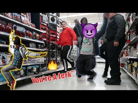 🔥Blasting New Boyz Youre A Jerk in WALMART WORKERS GOT PISSED!!