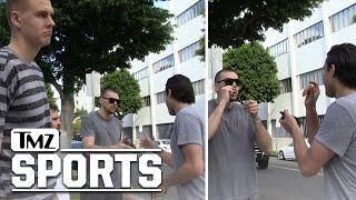 Kristaps Porzingis- Bystander To Epic Handshake   TMZ Sports