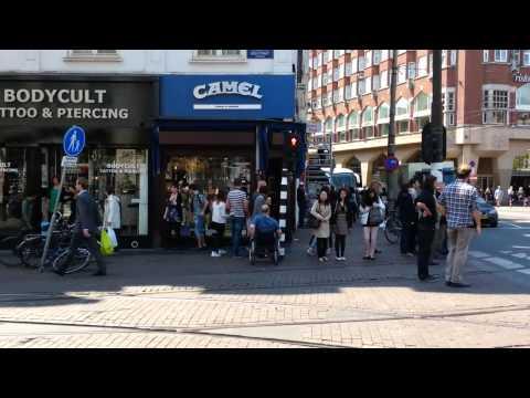amsterdam Damrak and more walk (47min - 5/13)