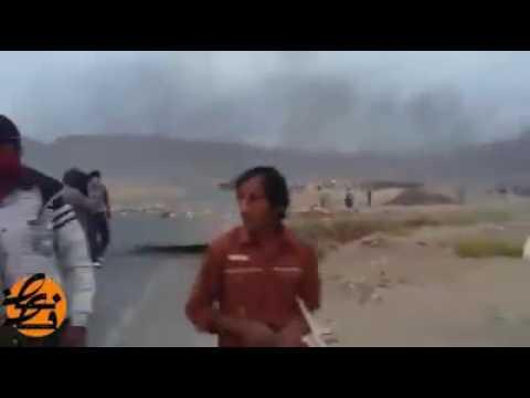 درگیری شدید مردم معترض با پلیس رژیم در چهارمحال و بختیاری