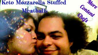 Keto Mozzarella Stuffed Turkey Meatballs