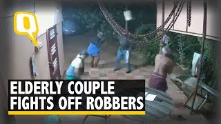 Caught on Cam: Elderly Couple Fights Off Armed Robbers in Tamil Nadu | The Quint