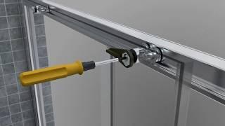 монтажная инструкция для двери в душевую нишу модель GUWER GK-662D