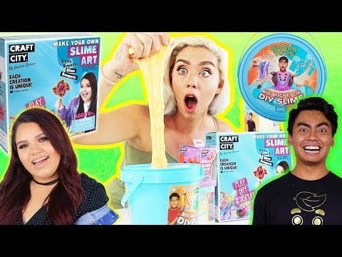 GIANT YOUTUBER'S SLIME SMOOTHIE!! Ryans ToyReview, Guava Juice, Karina Garcia | NICOLE SKYES