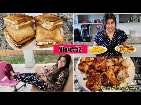 মজাদার ২টি Recipe এবং আমাদের Daily Lifestyle Vlog  ডিমের Sandwich & Chicken Chap Vaji recipe  V#52  