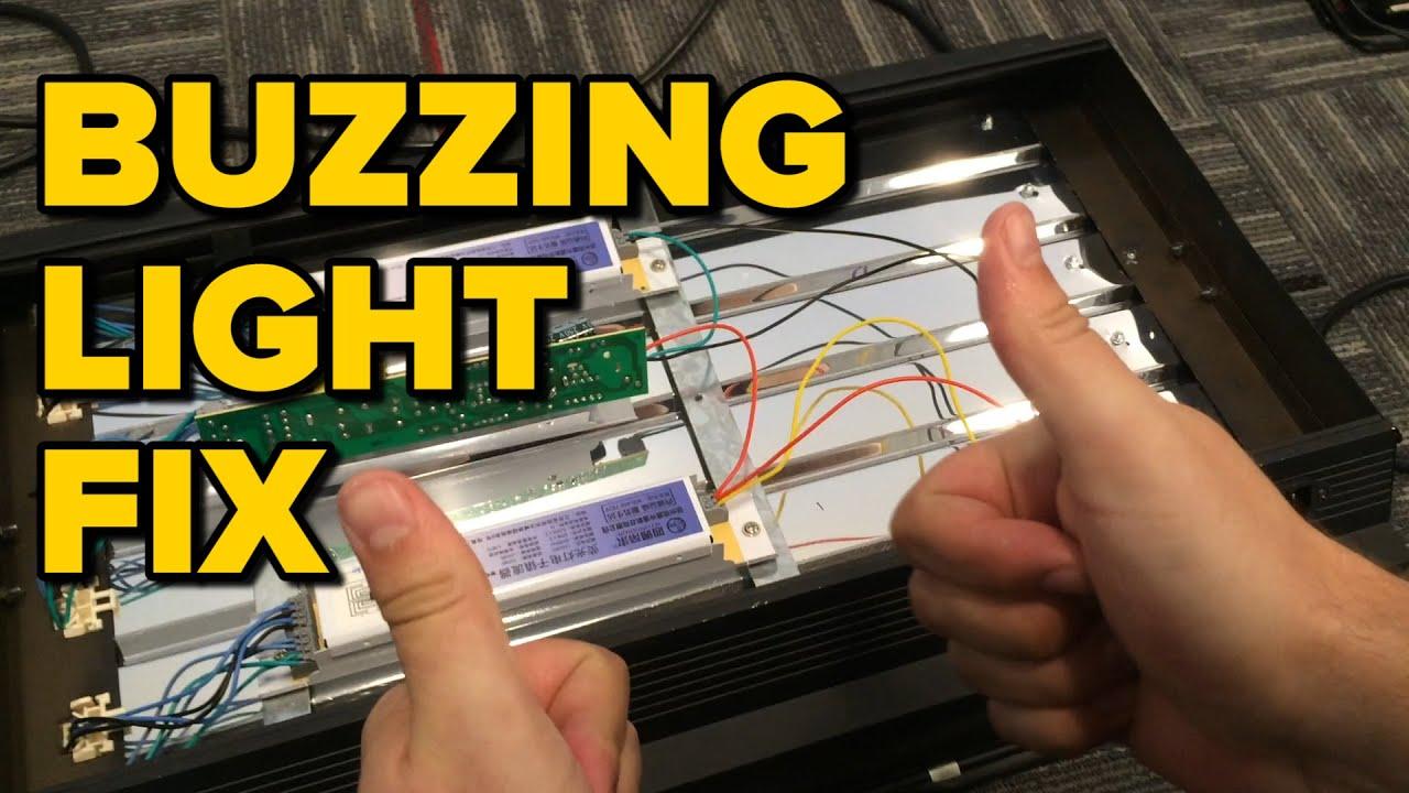Fix Fluorescent Light Buzz/Flicker