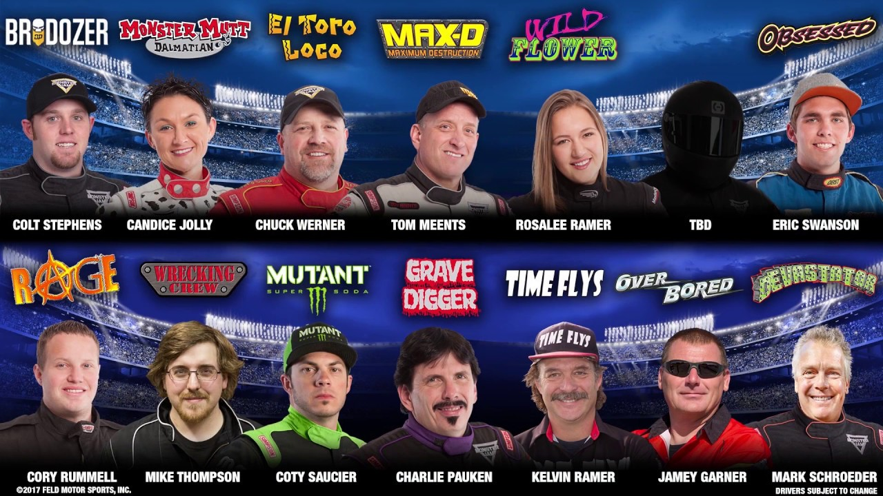 Monster Jam 2018 Tours And Driver Lineups Youtube