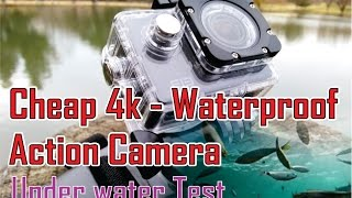 Hi, wanted to share this video of a cheap 4k waterproof action camera - test, bought it on aliexpress 2 week ago for about 35 dollar, well not that ...