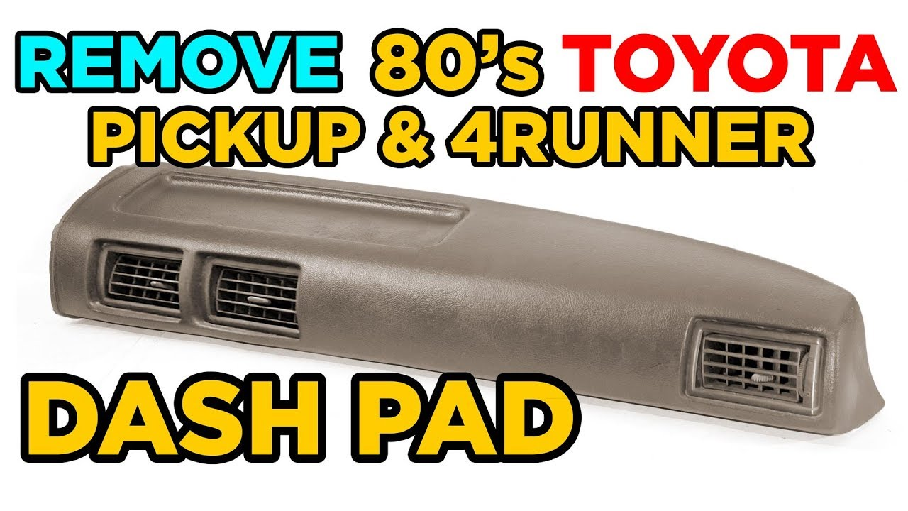 How To Remove 1980 S Toyota Pickup 4runner Dash Pad Cover Youtube
