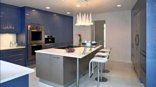 видео Синяя кухня (29 фото): сочетание цветов, мебель, фартук, плитка на пол в интерьере в синем стиле