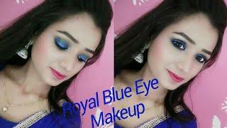 Royal Blue Eye Makeup|| Party Makeup