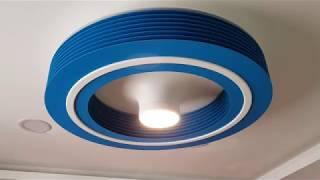 Exhale Bladeless Blue Fan for the matching office color
