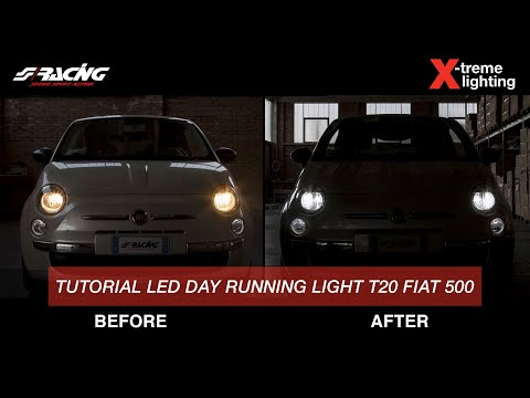[eng] how to replace fiat 500 led day running light t20 installation  tutorial - simoni racing