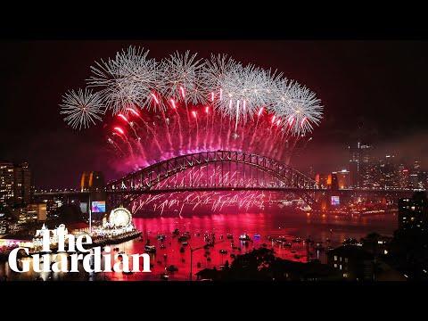 Sydney Harbour fireworks herald new year