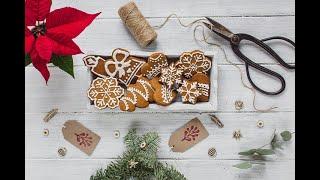 Имбирные пряники на Рождество🎄Готовим печенье легко и просто с Лизой Глинской☃️🍪