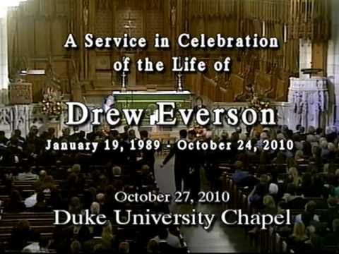 Memorial Service for Drew Everson