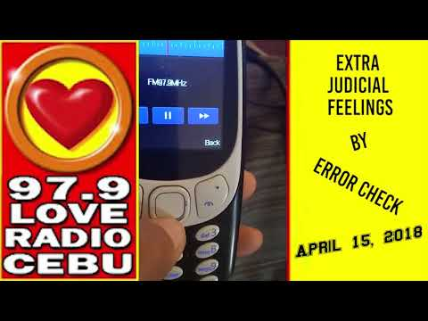 Extra Judicial Feelings by Error Check played at Love Radio 97 9 on April 15, 2018