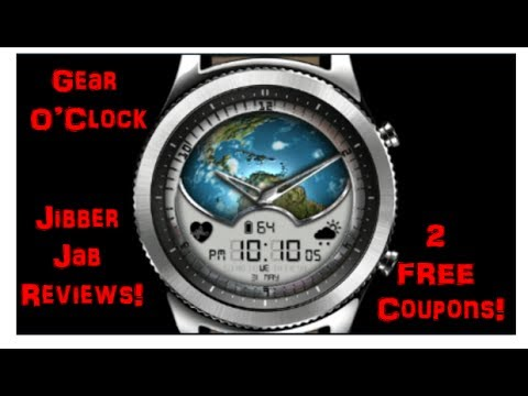 Samsung Gear S3 - Watch Faces by Gear O'Clock - 2 FREE Coupons! - Jibber Jab Reviews!