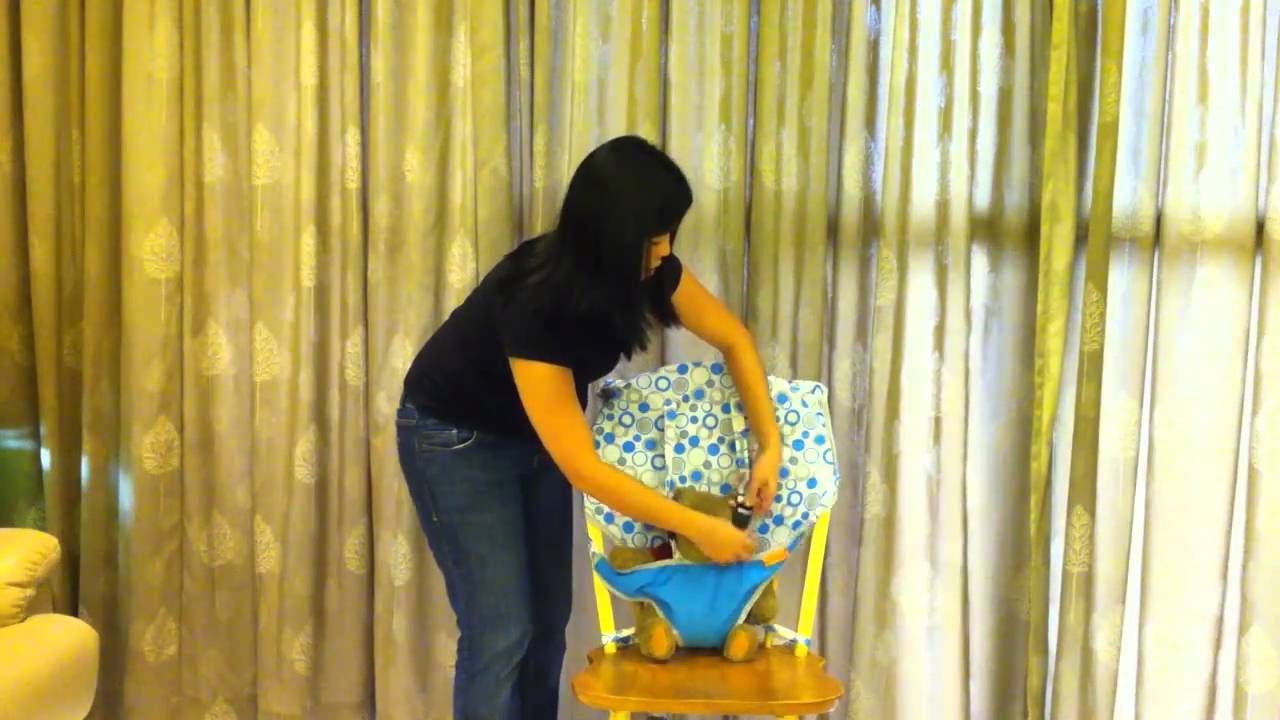 My Little Seat - Turn any chair into a baby seat! - YouTube