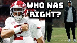 Jalen Hurts vs Kelly Bryant: Who Made The Better Decision? (rant)