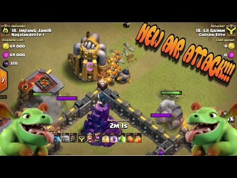 BEST TH9 AIR ATTACK!..(MUST TRY IT OUT!) INSANE CLASH POTLUCK!