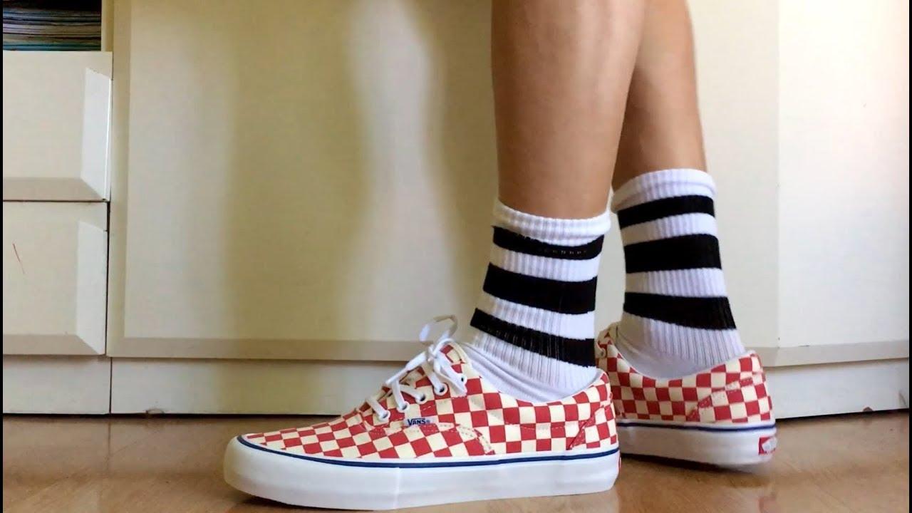 8559e73a7aeb REVIEW ZAPATILLAS VANS Checkerboard Era Pro ON FEET. Rococco Red-Classic  White