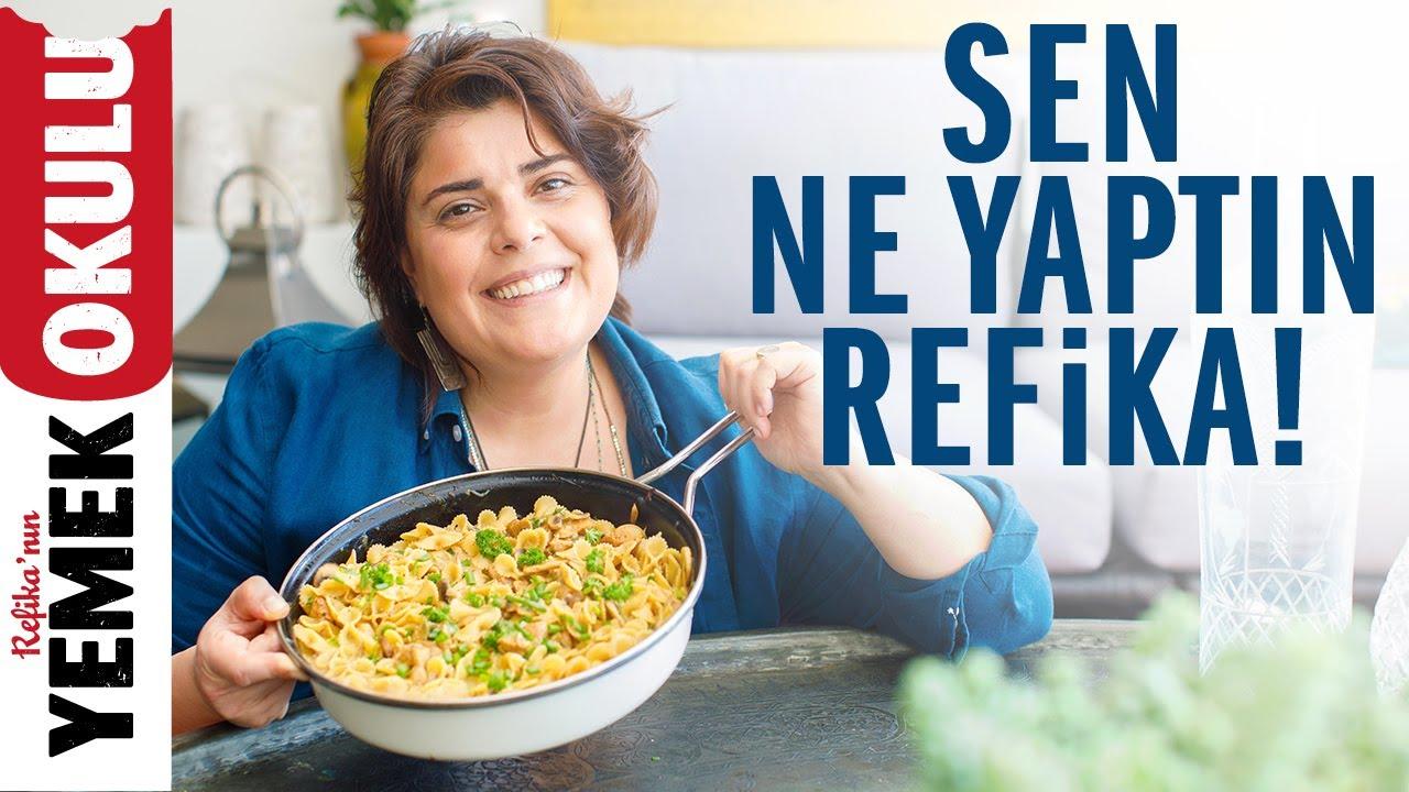 Tavuklu, Mantarlı ve Peynirli Makarna Tarifi | Evde Ziyafet Çekin!