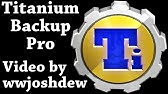 How to Backup Complete android phone using Titanium Backup - YouTube