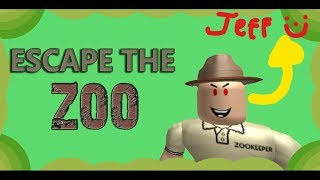 Jeff is the perfect obby helper...   ROBLOX escape the zoo obby!