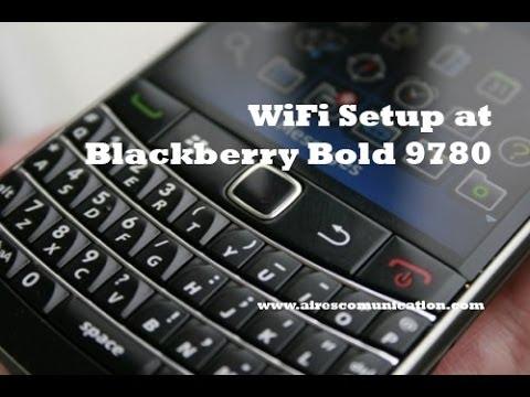 BlackBerry Bold 9780 Wifi setup