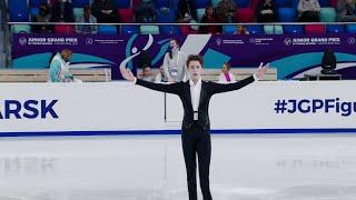 Егор Рухин Произвольная программа Гран при по фигурному катанию среди юниоров 2021 22